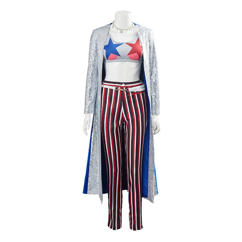 Movie Suicide Squad Harley Quinn Overcoat Outfits Cosplay Costume - Cosplay Clans