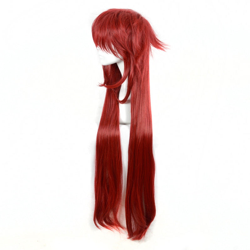 Anime Black Butler Grell Sutcliff Long Dark Red Cosplay Wigs - Cosplay Clans