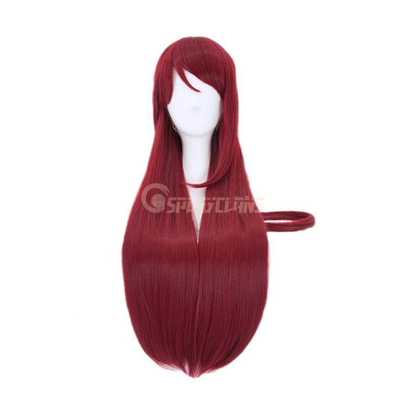 Anime LoveLive!Sunshine!! Sakurauchi Riko Long Wine Red Cosplay Wigs - Cosplay Clans