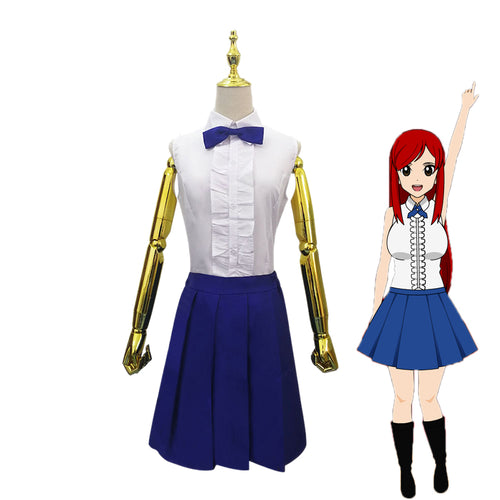 Anime Fairy Tail Erza Scarlet Uniforms Cosplay Costume - Cosplay Clans