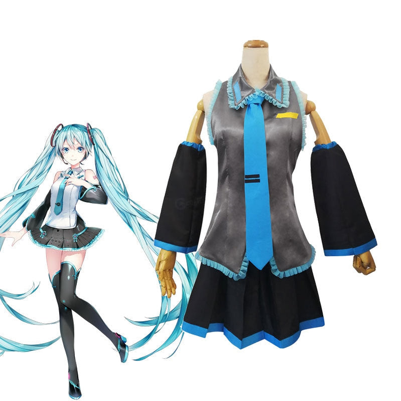 Vocaloid Hatsune Miku Full Set Cosplay Costumes - Cosplay Clans