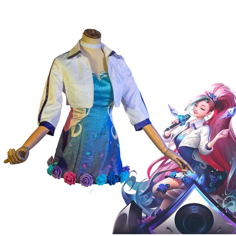 Game LOL KDA ALL OUT Seraphine Rising Star Fullset Cosplay Costumes - Cosplay Clans