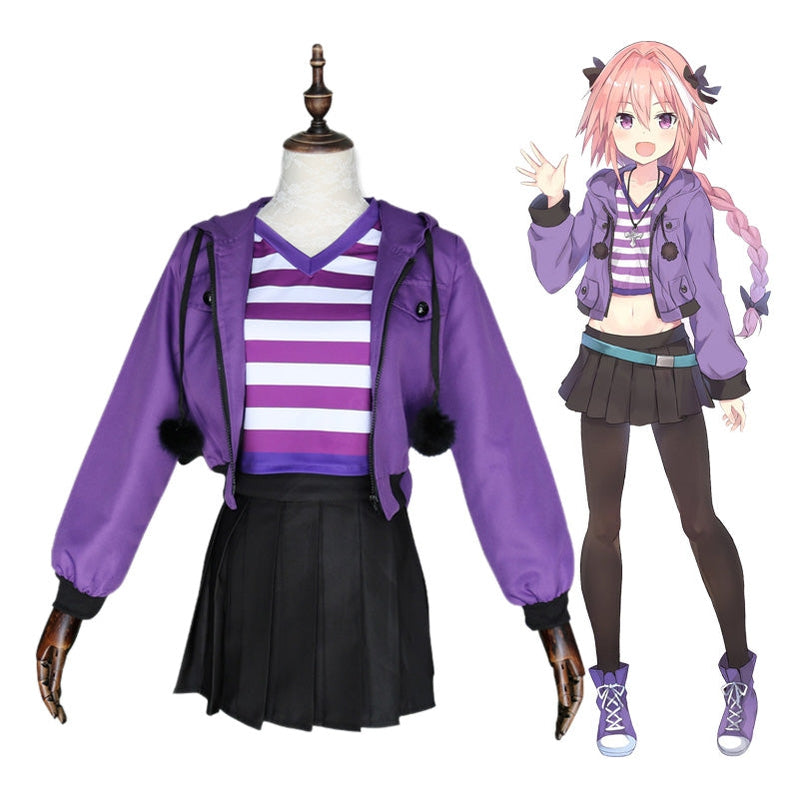 Anime FGO Fate Apocrypha Rider Servant Astolfo Sports Uniform Cosplay Costume - Cosplay Clans