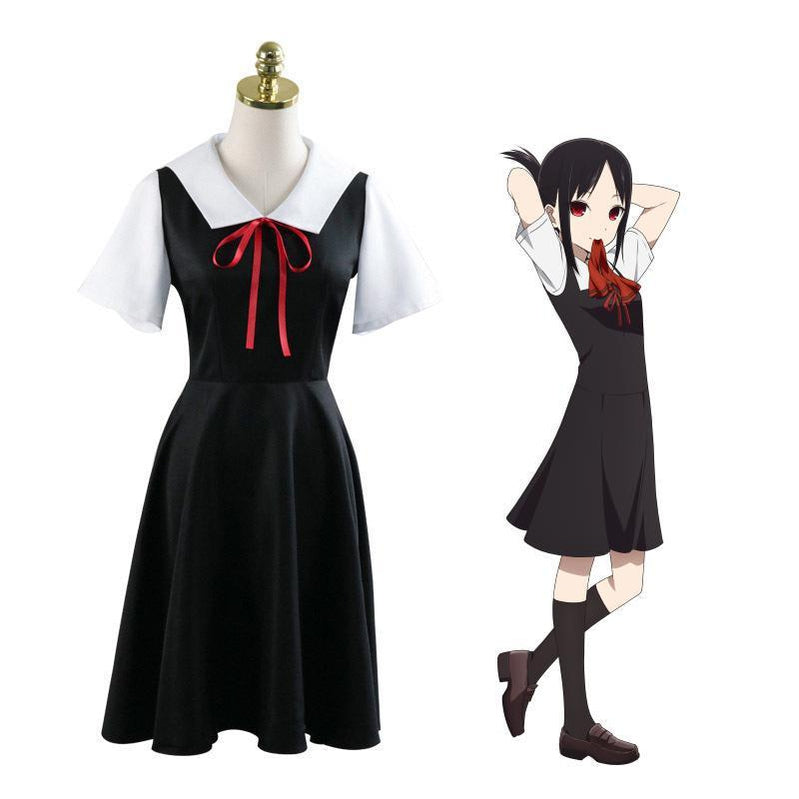 Anime Kaguya sama Love Is War Kaguya Shinomiya Short Sleeve Uniform Cosplay Costume - Cosplay Clans