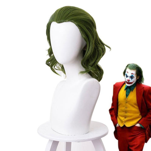 Movie Joker Halloween Green Short Cosplay Wigs - Cosplay Clans