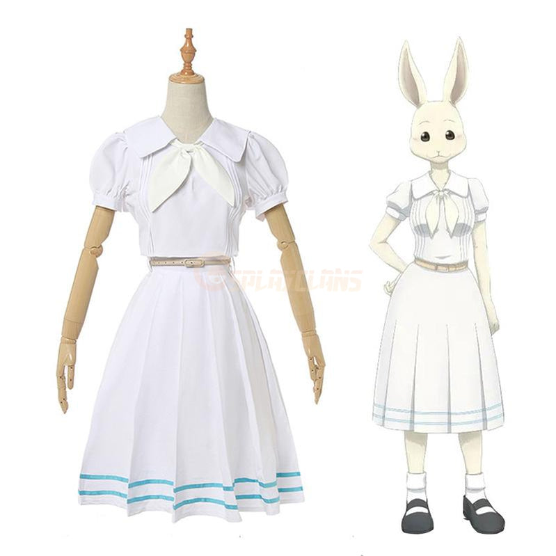 Anime Beastars Haru White Dress Cosplay Costume - Cosplay Clans