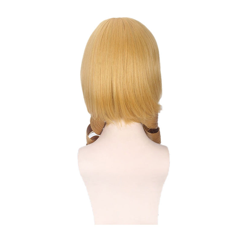 Anime Puella Magi Madoka Magica Mami Tomoe Long Curly Blonde Cosplay Wigs - Cosplay Clans