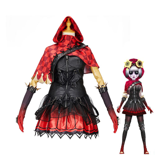 Game Identity V Mechanic Red Riding Hood Tracy Reznik Cosplay Costume