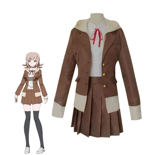 Anime Danganronpa 3: The End of Hope's Peak High School Chiaki Nanami Uniform Cosplay Costumes - Cosplay Clans