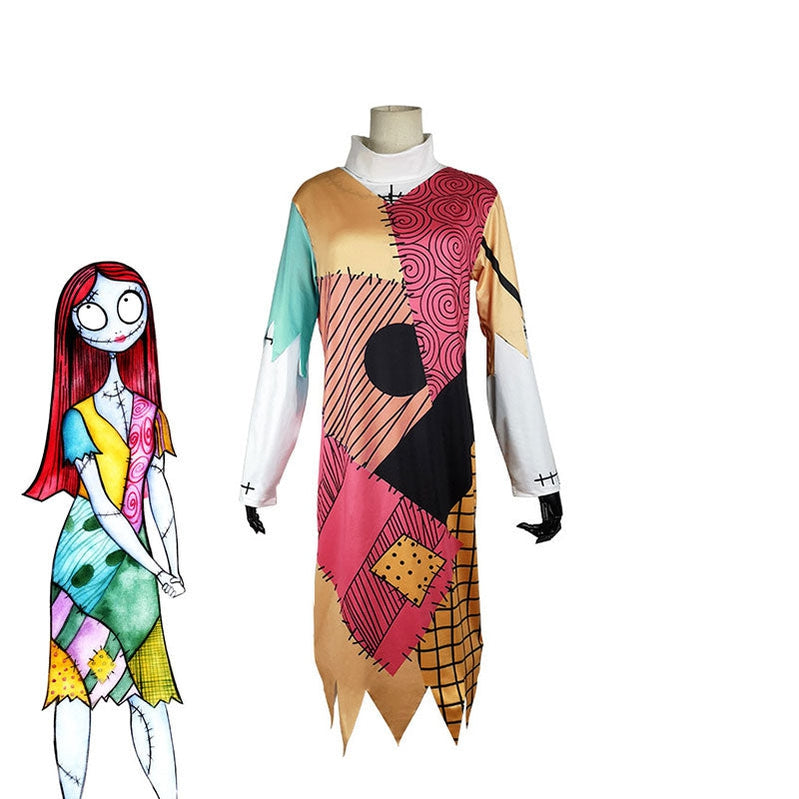 Movie The Nightmare Before Christmas Sally Cosplay Costume - Cosplay Clans