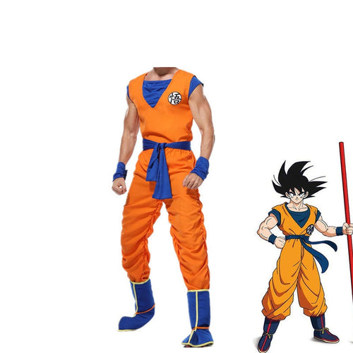Anime Dragon Ball Son Goku Combat Suit Cosplay Costume - Cosplay Clans