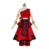 Anime Avatar: The Last Airbender Katara Red Dress Outfit Cosplay Costume - Cosplay Clans