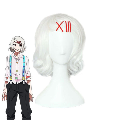 Anime Tokyo Ghoul Juzo Suzuya Short White Cosplay Wigs - Cosplay Clans