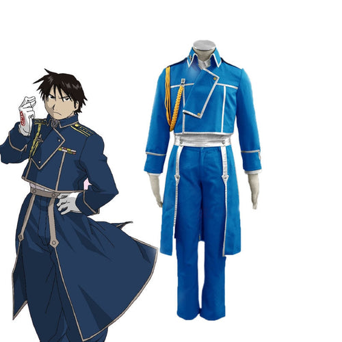 Anime Fullmetal Alchemist Roy Mustang Army Cosplay Costume - Cosplay Clans