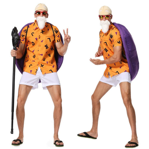 Anime Dragon Ball Master Roshi Cosplay Costume