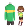 Game Undertale The First Human Chara Cosplay Costume - Cosplay Clans