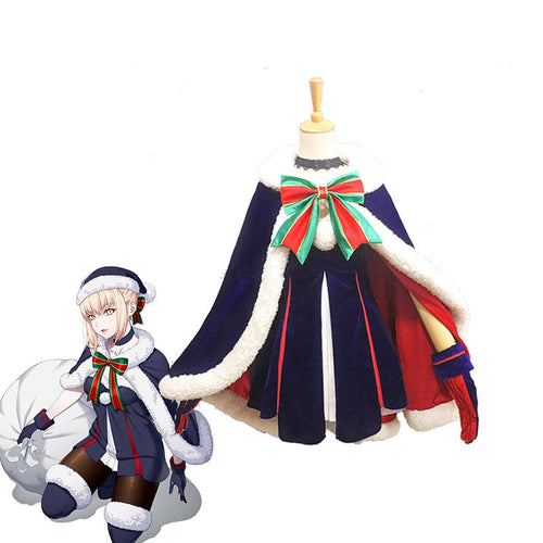 FGO / Fate Grand Order Saber Christmas Cosplay Costume - Cosplay Clans
