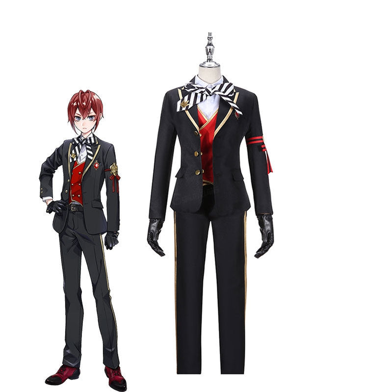 Game Twisted-Wonderland Riddle Rosehearts Uniforms Cosplay Costume - Cosplay Clans
