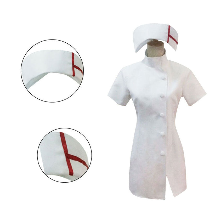 Anime Danganronpa3: The End of Hope's Peak High School Mikan Tsumiki Nurse Uniform Cosplay Costumes - Cosplay Clans