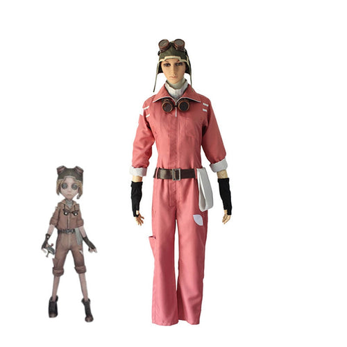 Game Identity V Mechanic-Cute Pink Tracy Reznik Cosplay Costume - Cosplay Clans