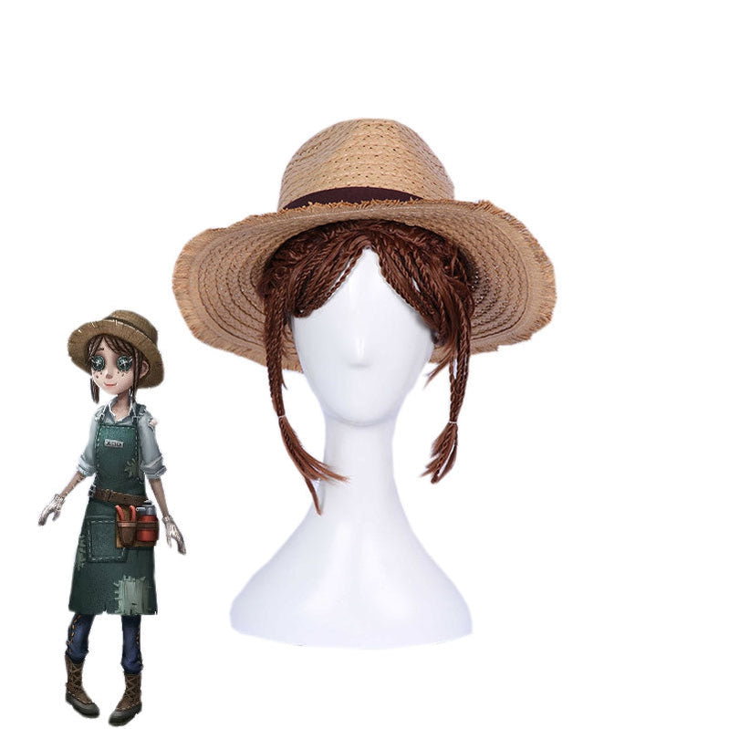 Game Identity V Emma Woods Short Brown Cosplay Wigs - Cosplay Clans