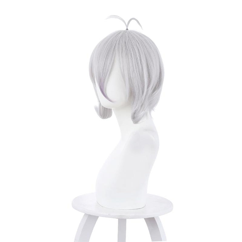 Princess Connect! Re:Dive Kokoro Natsume Silver Gray Short Synthetic Cosplay Wig - Cosplay Clans