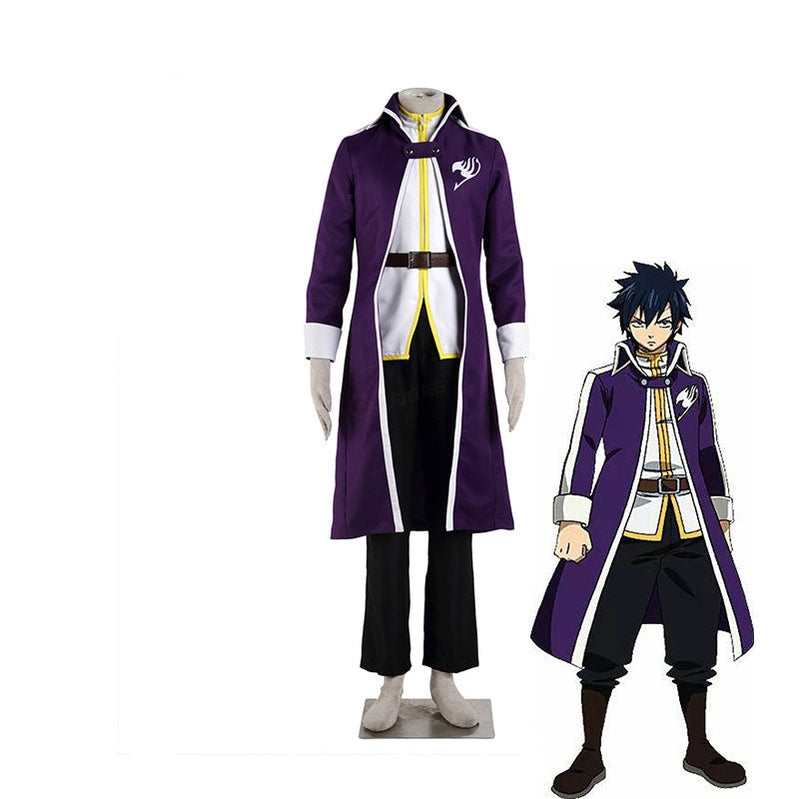 Anime Fairy Tail Natsu Team Gray Fullbuster Purple Cosplay Costume - Cosplay Clans