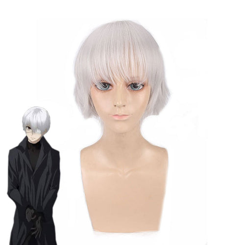 Anime Tokyo Ghoul Haise Sasaki 35cm White Cosplay Wigs - Cosplay Clans