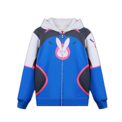 Game OW Overwatch D.Va Hana Song Fleece Lined Hoodie Jacket Cosplay Costumes - Cosplay Clans