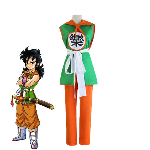 Anime Dragon Master Yamcha Combat Suit Cosplay Costume