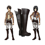 Anime Attack on Titan Eren Jaeger Mikasa Ackerman The Wings Of Freedom Survey Corps Cosplay Shoes - Cosplay Clans