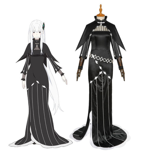 Anime Re: Zero Starting Life in Another World Echidna Witch of Greed Dress Cosplay Costumes - Cosplay Clans