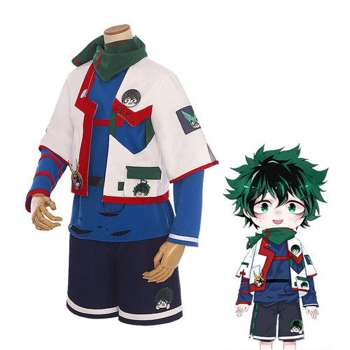 Anime My Hero Academia Izuku Midoriya Casual Clothes Cosplay Costumes - Cosplay Clans
