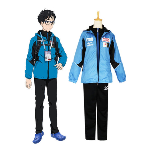 Anime Yuri on Ice Yuuri Katsuki Jacket Suit Cosplay Costume - Cosplay Clans