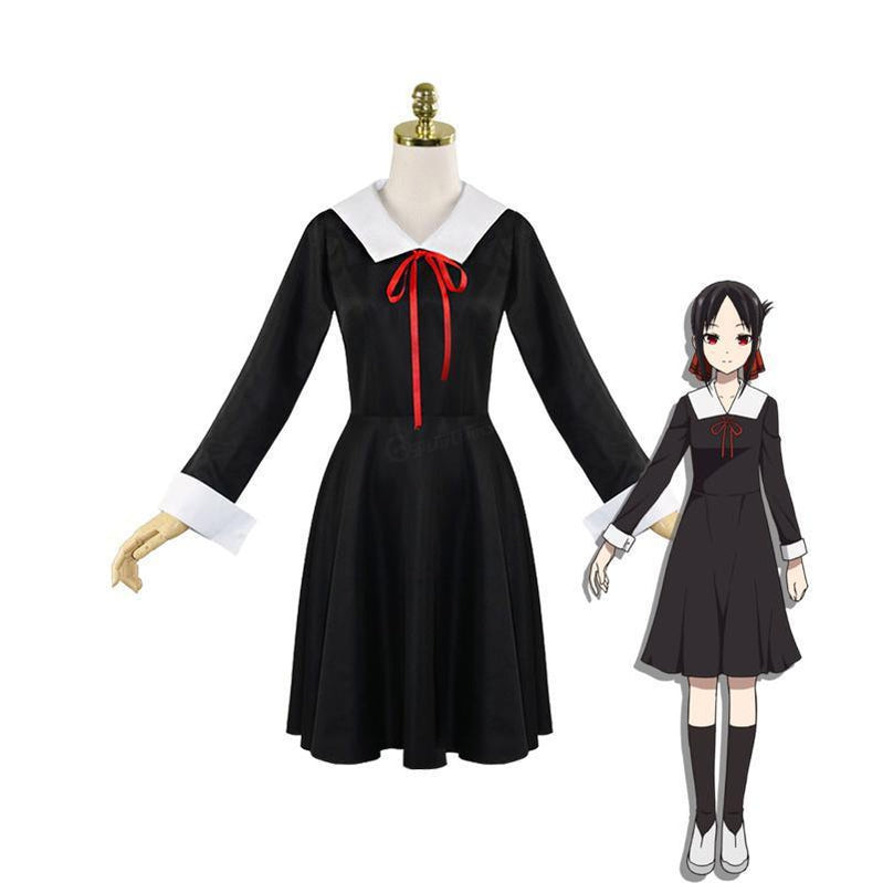 Anime Kaguya sama Love Is War Kaguya Shinomiya Long Sleeve Uniform Cosplay Costume - Cosplay Clans