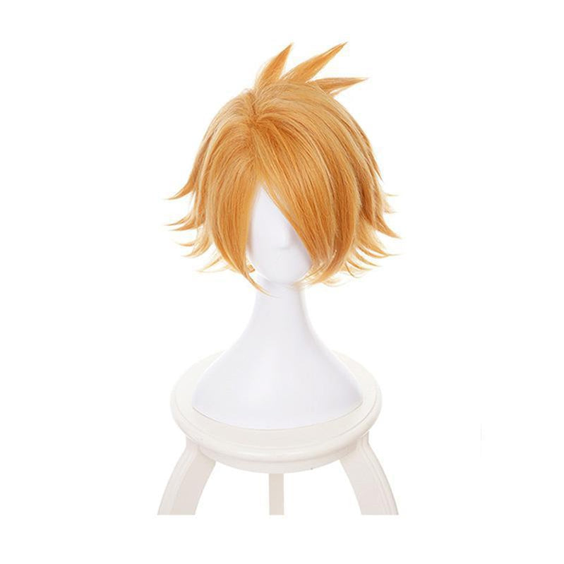 Anime My Hero Academia Denki Kaminari Short blond Cosplay Wigs with Free Headwear - Cosplay Clans