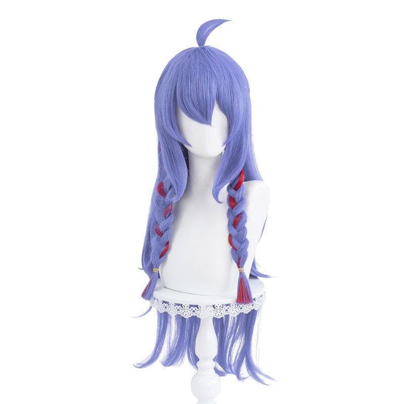 Game LOL Spirit Blossom Skin Kindred 80cm Long Blue Purple Cosplay Wigs - Cosplay Clans