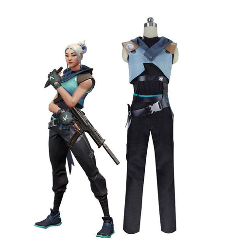 Game Valorant Jett Cosplay Costumes (Customized) - Cosplay Clans