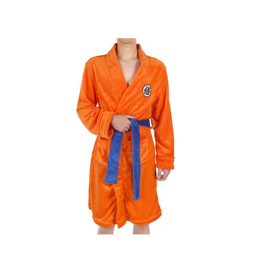 Anime Dragon Ball Son Goku Bathrobe Cosplay Costume - Cosplay Clans