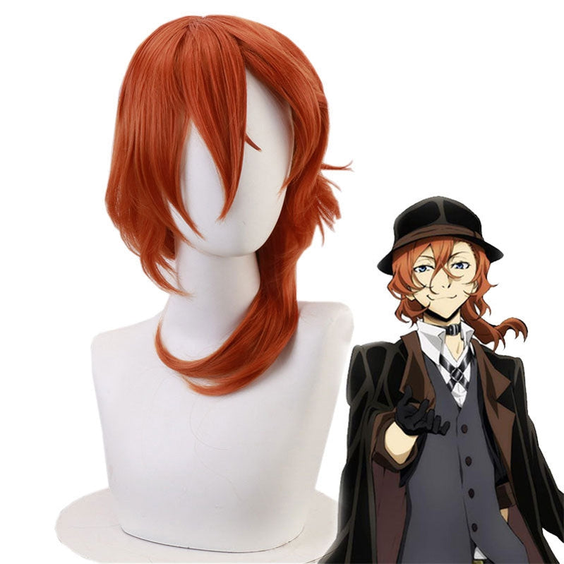 Anime Bungo Stray Dogs Chuya Nakahara Brown Cosplay Wigs - Cosplay Clans