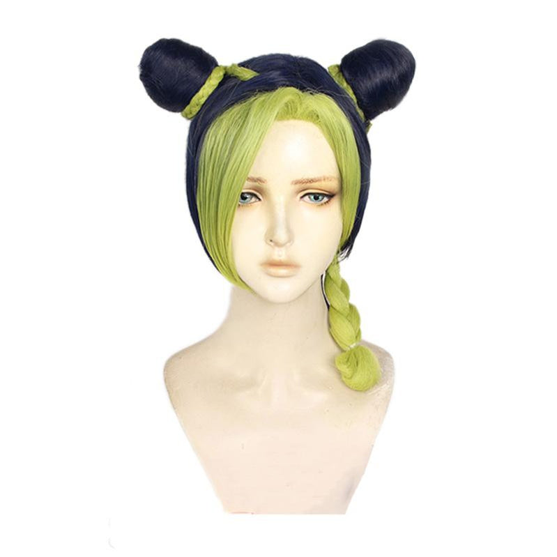 Anime JoJo's Bizarre Adventure Stone Ocean Jolyne Cujoh Mixed Light Green Cosplay Wigs - Cosplay Clans