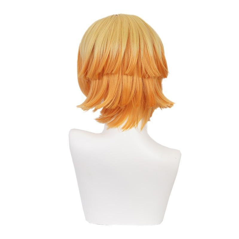 Anime Demon Slayer: Kimetsu no Yaiba Zenitsu Agatsuma Female Cosplay Wig Blonde Long Ponytail Cosplay Wigs - Cosplay Clans