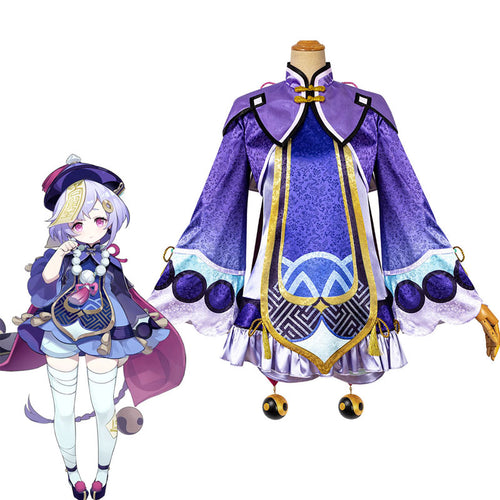 Game Genshin Impact QiQi Fullset Cosplay Costumes - Cosplay Clans