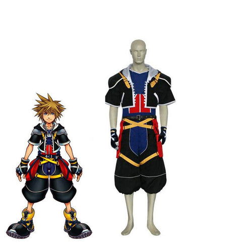 Game Kingdom Hearts Sora Cosplay Costume - Cosplay Clans