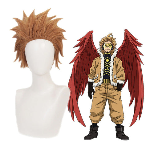Anime My Hero Academia Wing Hero Hawks Keigo Takami Short Brown Cosplay Wigs - Cosplay Clans