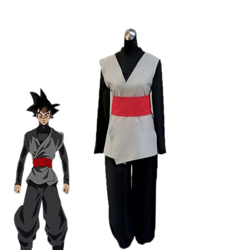 Anime Dragon Ball Son Goku Black Combat Suit Cosplay Costume