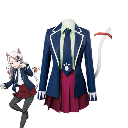 Anime Fairy Tail Carla Uniforms Cosplay Costume - Cosplay Clans
