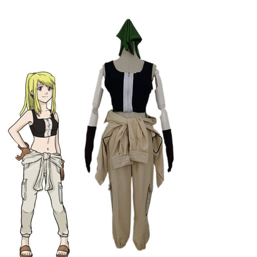 Anime Fullmetal Alchemist Winry Rockbell Cosplay Costume - Cosplay Clans