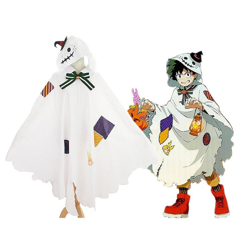 Anime My Hero Academia Deku Izuku Midoriya Halloween Cosplay Cloak - Cosplay Clans