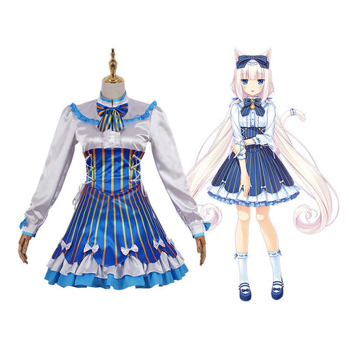 Game Nekopara Catgirl Vanilla Casual Dress Cosplay Costume - Cosplay Clans
